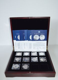 World – Various coins 2011 'Fabulous Silver Collection' (10 different) – silver