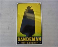 Enamel sign - SANDEMAN - ca. 1972 - Vintage - Limited Edition