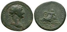 Roman Empire - Trajan (98-117), AE Dupondius - VIA TRAIANA - 112-114 AD.