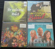 Breaking Bad / Better Call Saul / Book Of Life / St. Vincent: Great lot of 4 Soundtrack albums (7LP's)