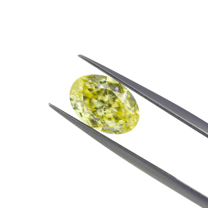 3.05 Ct. Natural Fancy Light Yellow Cushion Diamond, GIA Certified