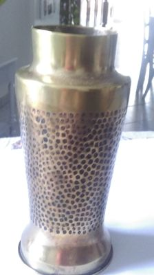 Shell - transformed in copper vase