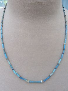 Egyptian necklace with faience beads - 56 cm