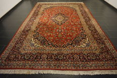 Very beautiful fine antique Persian palace carpet, Kashan, finest cork wool made in Iran, 250 x 375cm
