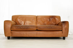 Molinari – 1x 'Fatboy' natural leather 3-seater sofa