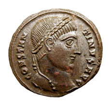 Roman Empire - Constantine I the Great (307-337 A.D.) bronze follis (3,56 g. 18 mm.) from Heraclea mint, 324 A.D. D N CONSTANTINI MAX AVG. / VOT XX /*. SMHA.