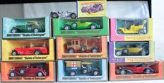 Lesney Matchbox MoY - Schaal ca. 1/48 - Models of Yesteryear Nos.Y4 t/m Y17, 1961 - 1973