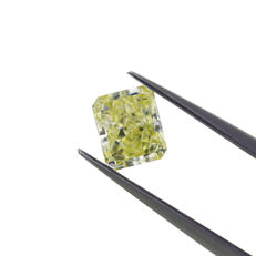Natural U-V 1.09 ct. Cut corner rectangular shape Diamond, GIA Certified