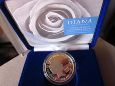 "United Kingdom – 5 pounds from 1999, ""Diana of Wales Memorial"" – Silver"