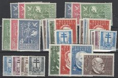 Belgium – Batch 3x OBP no. 927 to 937,  European idea and anti-tuberculosis stamps 1953