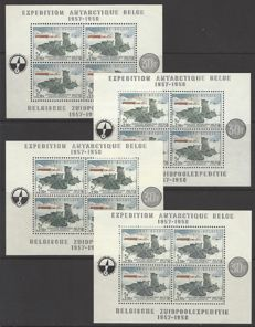 Belgium – 4x Block OBP no. BL31 Belgian Antarctic expedition 1957-58