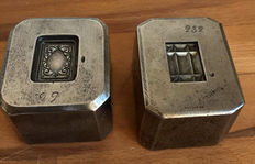 Two antique heavy French factory stamps - approx. 1900-France