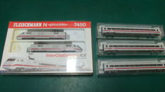 Fleischmann N - 7441/5/6/50 - 5-piece Intercity Express ICE of the DB