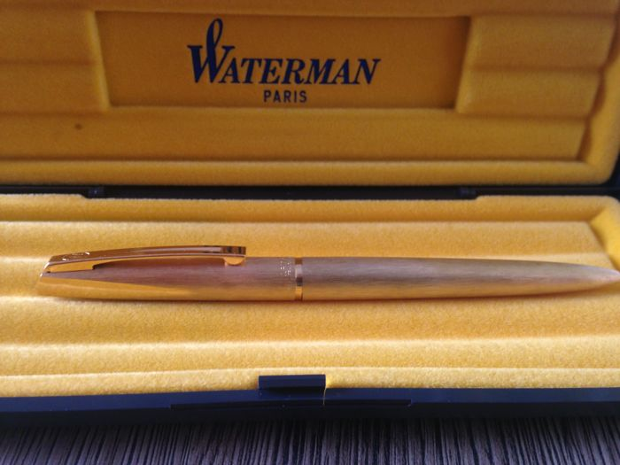 Waterman gold plated ballpoint pen, with no reserve price!