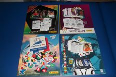 Panini - WC 98 + EC 04/06/12 - 4 incomplete albums + 350 stickers.