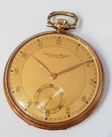 IWC – International Watch Co Schaffhausen – men's pocket watch – circa 1910