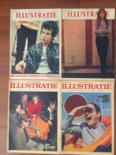 Lot with 10 Dutch illustrated weekly magazines from the sixties - 1964/1968.