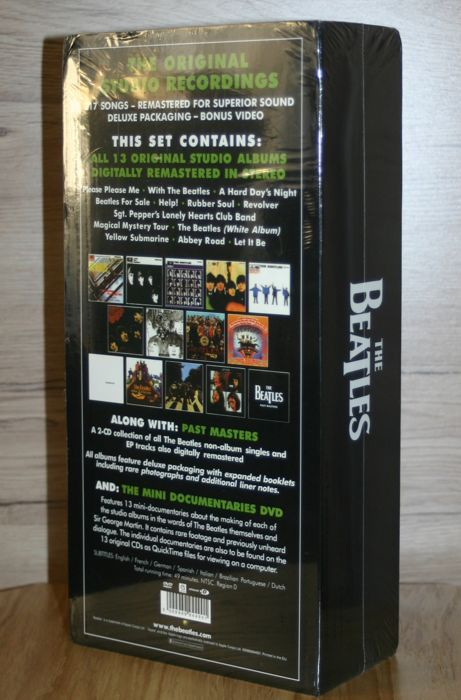 the beatles remastered stereo boxset 15 cd dvd box set limited edition catawiki. Black Bedroom Furniture Sets. Home Design Ideas