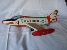 "T.N. (?), Japan - Length 35 cm - Tin ""U.S. AIR FORCE FG-761 Plane with Friction Engine "", 1950s"