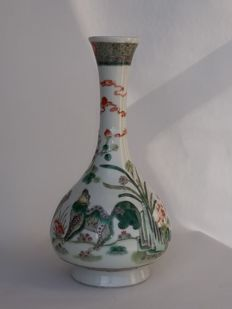 Porcelain vase  Famille verte - China - 19th century