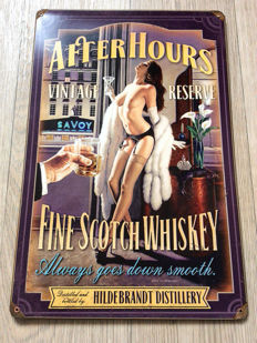 After Hours Fine Scotch Whiskey Pin Up - Greg Hildebrandt - 2012