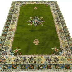 Berber - 242 x 160 cm - eye-catcher in green - oriental carpet in beautiful condition.