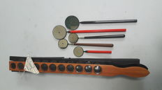 Skiascopy rack and ophthalmoscopes