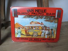 Enamel advertising sign Van Nelle Njang - 2nd half 20th century