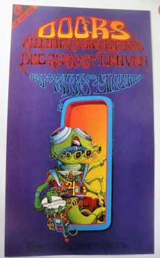 "The Doors  Family Dog  Denver ""Pay Attention aka Space Man"" by Rick Griffin 1967"