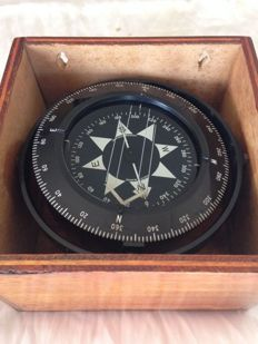 Vintage compass, Original from London, England, Heath Marine, 1950