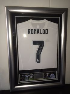 Cristiano Ronaldo - Original CR7 Hand Signed and Framed Real Madrid home shirt + COA inc photoproof!