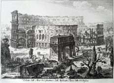 Johan Christian Jacob Friedrich (1746-1813) after an design by Piranesi - The Colloseum of Rome and surroundings - 18th century