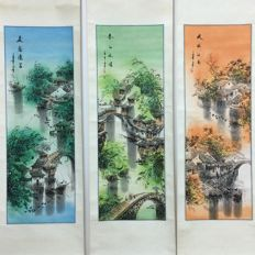 Three paintings - China - late 20th century