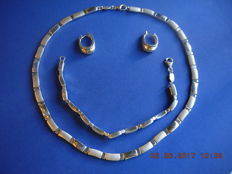 925/1000 silver jewellery set FOSIL