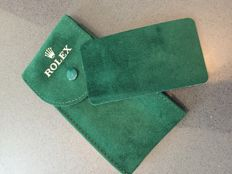 Rolex watch travel case in green velvet  Used, in excellent condition