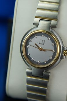 Alfred Dunhill - Ladie's Swiss watch with 12 Diamonds UNWORN