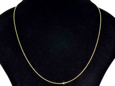 18k Gold. Ball Chain. Length 50 cm. No reserve price.