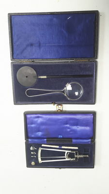 Two medical cases Opthalmoscope and Tonometer