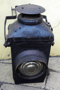 Adlake Railway non sweating lamp, metal - England - 19th century