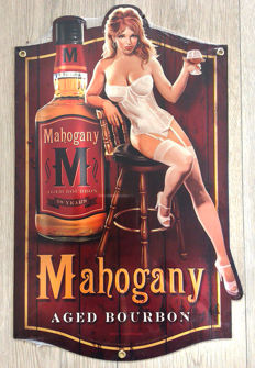 Mahogany Aged Bourbon Whisky Reclame Pin Up - Greg Hildebrandt - 2012