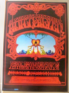 Rare Stunning Original  Rick Griffin Psychedelic Poster Roundhouse London Exhibition 1976
