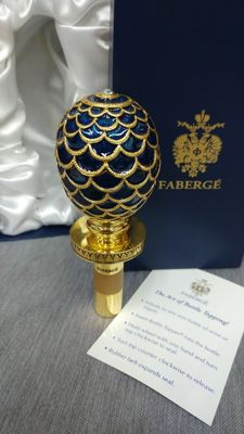 Authentic Fabergé Pine Cone Egg Wine Stopper