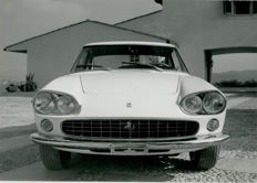 Ferrari 330 G.T Coupe  original black and white Pininfarina press photograph