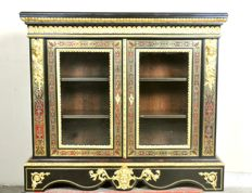 "A gilt-bronze mounted ""Boulle"" style marquetry vitrine, stamped for Hippolyte-Edme Pretot (1812-1855) and probably dated - France - second quarter 19th century"