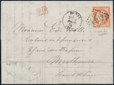 France 1875 – Cérès variety 4 Enhanced on letter - Yvert no. 38d.