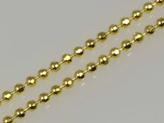 18k Gold Ball Chain - 50 cm.
