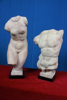 Beautiful torsos of man and woman
