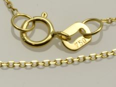 18k Gold Necklace. Chain - 44,5 cm.