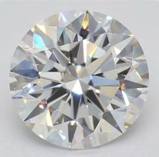0.50CT D/IF GIA Certified round brilliant cut diamond - Laser inscribed - Original image 10X
