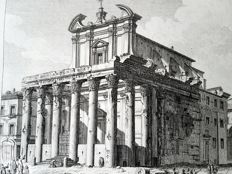Johan Christian Jacob Friedrich (1746-1813) after an design by Piranesi - Tempio di Antonio e Faustina in Campo Vaccino - 18th century